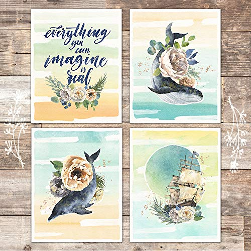 Everything You Can Imagine Is Real Art Prints (Set of 4) - Unframed - 8x10s - Dream Big Printables