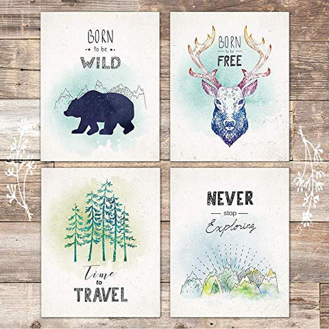 Wild And Free Art Prints (Set of 4) - Unframed - 8x10s