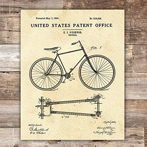 Bicycle Patent Print Wall Art - Unframed - 8x10 - Dream Big Printables