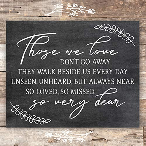 Those We Love Chalkboard Art Print - Unframed - 8x10 - Dream Big Printables