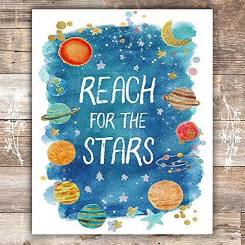 Reach For The Stars Art Print - Unframed - 8x10 - Dream Big Printables