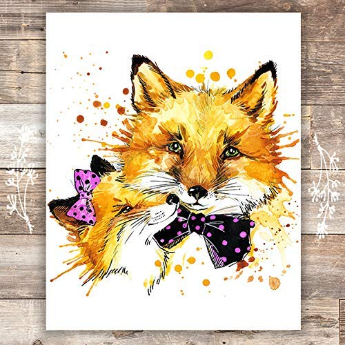 Fox Wall Art Print - Unframed - 8x10 | Nursery Decor - Dream Big Printables