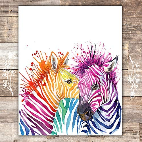Zebra Wall Art Print - Unframed - 8x10 - Dream Big Printables