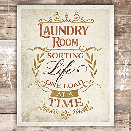 Laundry Room - Sorting Life One Load At A Time - Art Print - Unframed - 8x10 - Dream Big Printables