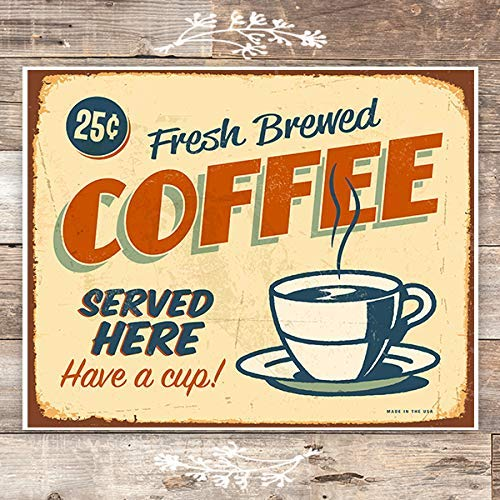 Fresh Brewed Coffee Sign - Art Print - Unframed - 8x10 - Dream Big Printables