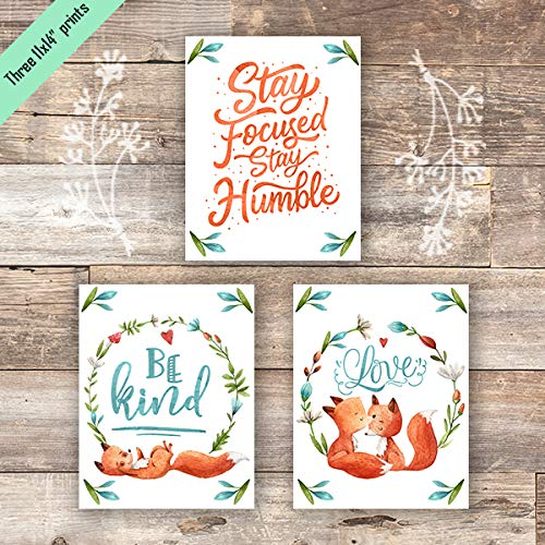 Fox Quotes Art Prints (Set of 3) - Unframed - 11x14s - Dream Big Printables