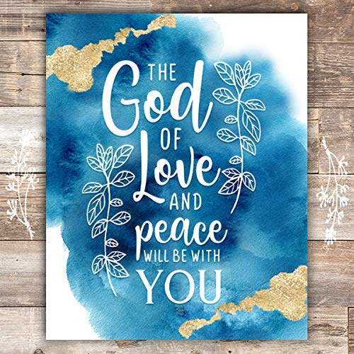 The God Of Love And Peace Be With You Art Print - Unframed - 8x10 - Dream Big Printables