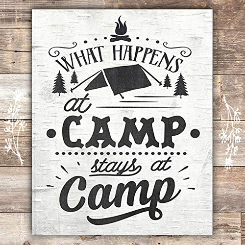 What Happens At Camp Stays At Camp - Unframed - 8x10 - Dream Big Printables