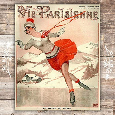 The Queen Of Skating La Parisienne Cover French Art Print - Unframed - 8x10