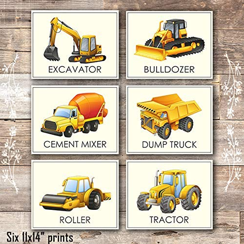 Boys Trucks - Art Prints (Set of 6) - Unframed - 11x14s - Dream Big Printables