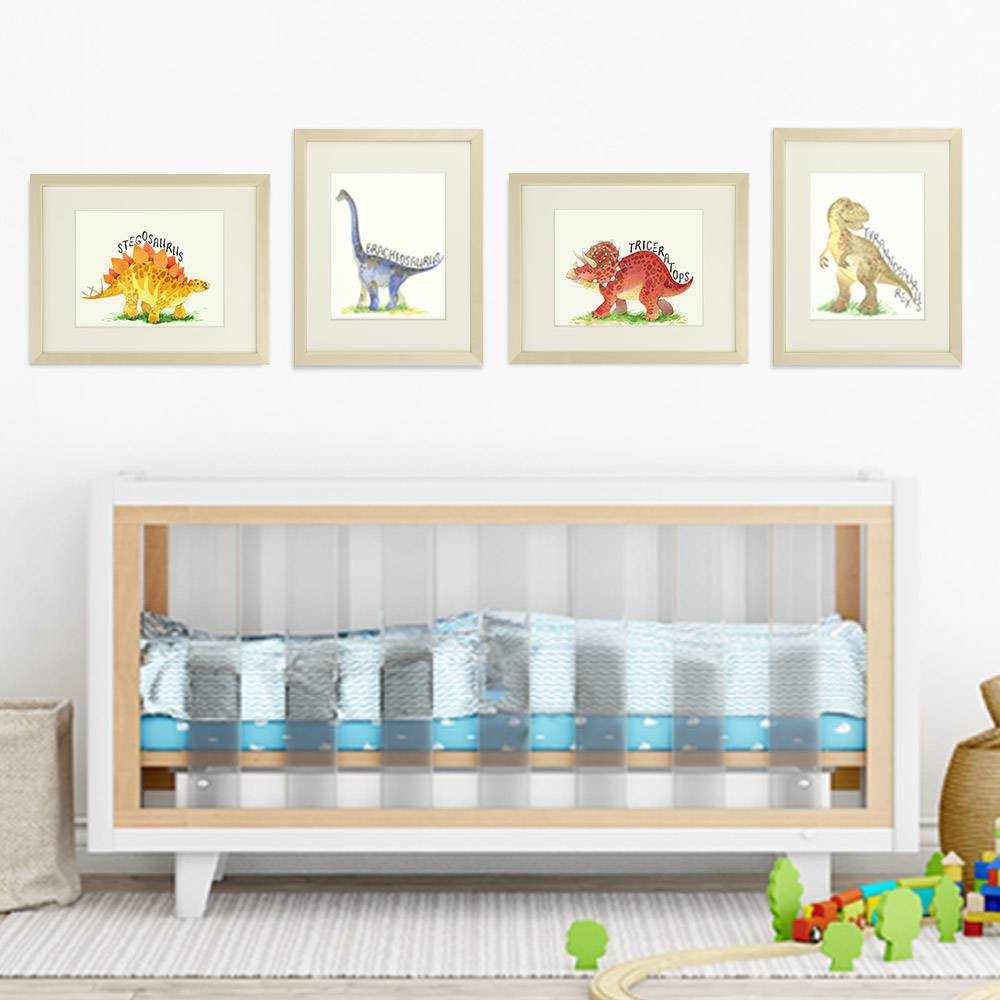 Dinosaur Bedroom Decor Wall Art Prints (Set of 4) - 8x10s - Dream Big Printables