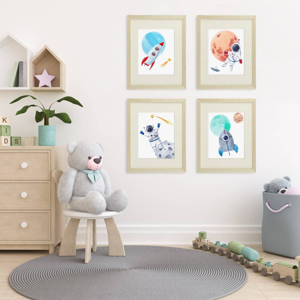 Kids Space Decor Art Prints (Set of 4) - 8x10s - Dream Big Printables