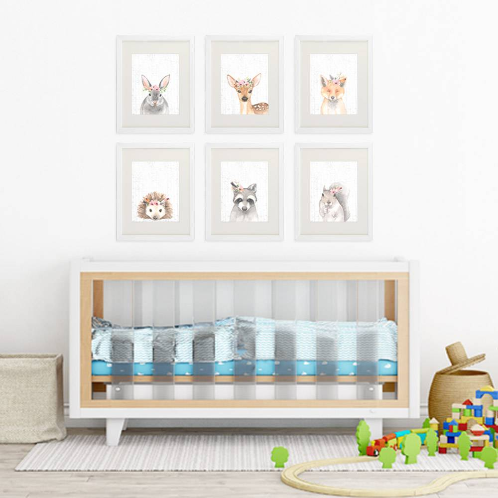 Woodland Animals Nursery Wall Art Prints (Set of 6) - 8x10s - Dream Big Printables