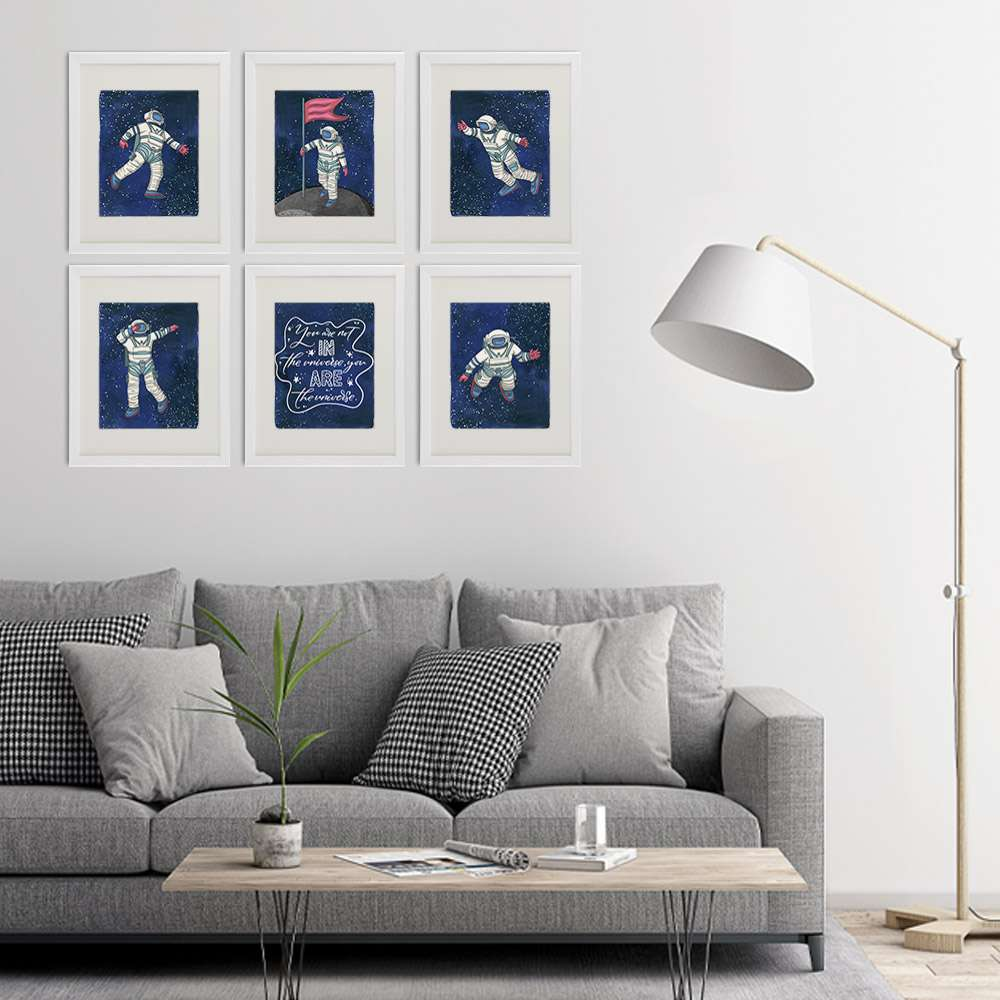 Astronauts In Space Art Prints (Set of 6) - 8x10s - Dream Big Printables