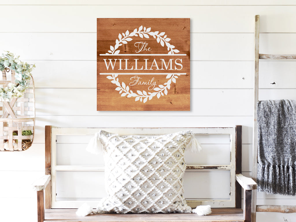 Personalized Family Name Wood Sign - Dream Big Printables