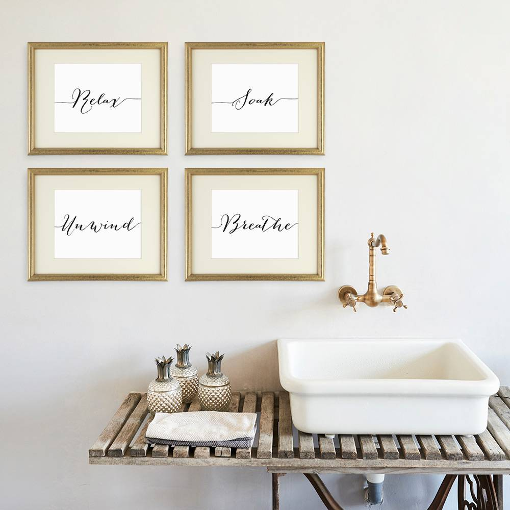 Relax Soak Unwind Breathe Wall Art - Dream Big Printables