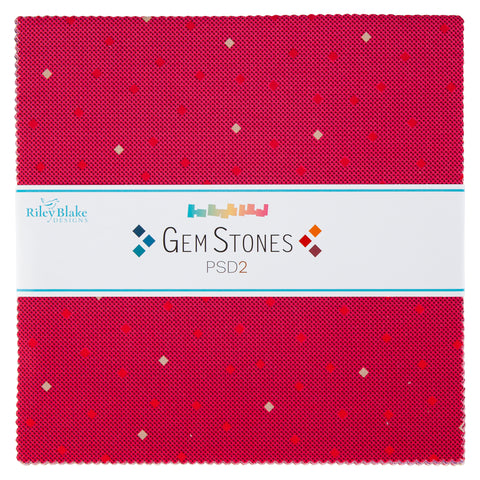 "NEW!  Gem Stones Bright 10"" Stacker"