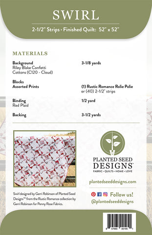 Swirl PDF Quilt Pattern – Planted Seed Designs