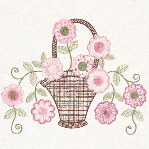 Blooming Baskets MACHINE Embroidery CD