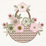 NEW!  Blooming Baskets MACHINE Embroidery CD