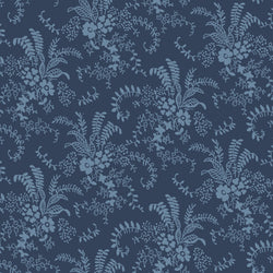 NEW!  Charming Navy Bouquet Print - C6654 NAVY