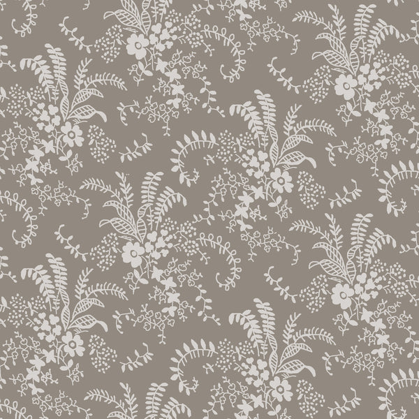Charming Taupe Bouquet Print (C6654 Taupe)