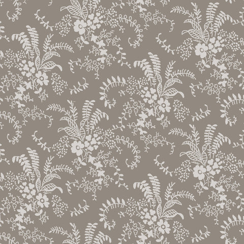 NEW!  Charming Taupe Bouquet Print - C6654 TAUPE