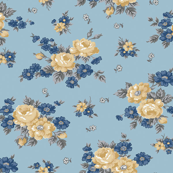 NEW!  Blue Delightful Main Print (C10250 Blue)