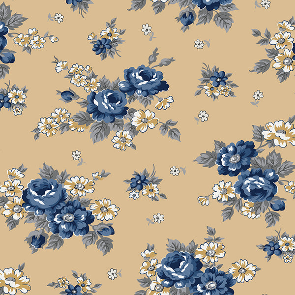 NEW!  Gold Delightful Main Print (C10250 Gold)