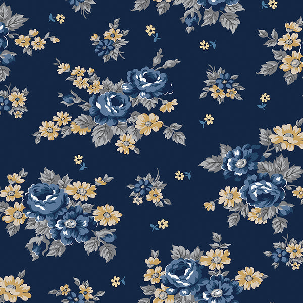 NEW!  Navy Delightful Main Print (C10250 Navy)