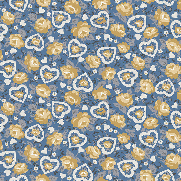 NEW!  Blue Delightful Hearts (C10252 Blue)