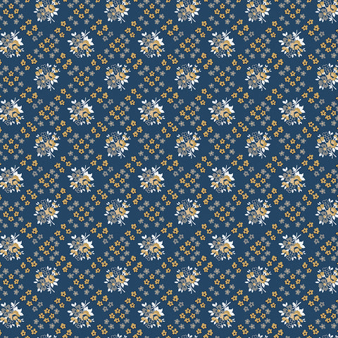 COMING SOON!  Navy Delightful Bias Floral (C10254 Navy)
