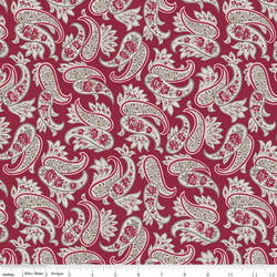 Rustic Romance Red Paisley Print (C7062 Red)