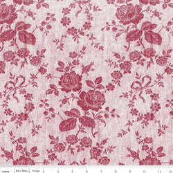 Rustic Romance Red Rose Print (C7063 Red)