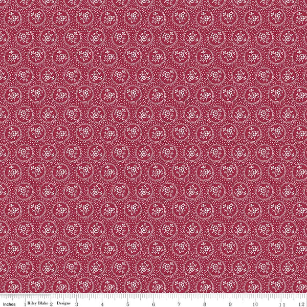 Rustic Romance Red Dot Print (C7064 Red)