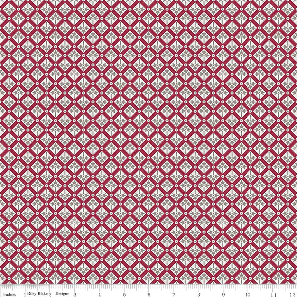Rustic Romance Red Spades Print (C7065 Red)