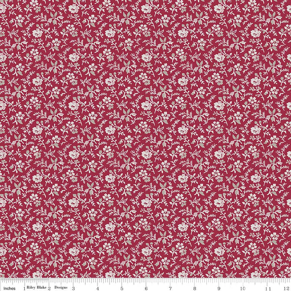 Rustic Romance Red Stems Print (C7066 Red)