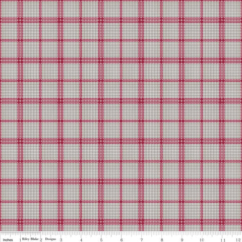 Rustic Romance Gray Plaid Print (C7067 Gray)