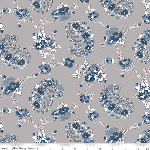 NEW! Majestic Gray Vine Print (C8141 Gray)
