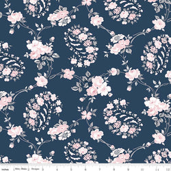 COMING SOON! Majestic Navy Vine Print (C8141 Navy)