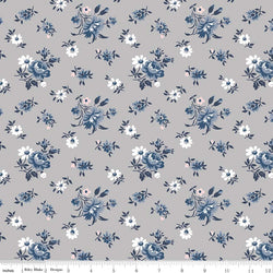 SALE - 5 YARD CUT!  Majestic Gray Toss Print (C8142 Gray)