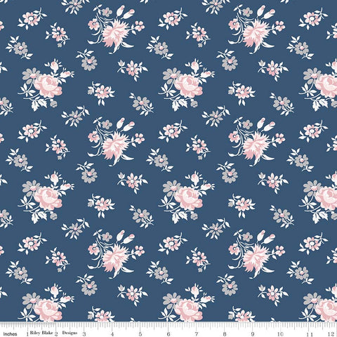 NEW! Majestic Navy Toss Print (C8142 Navy)