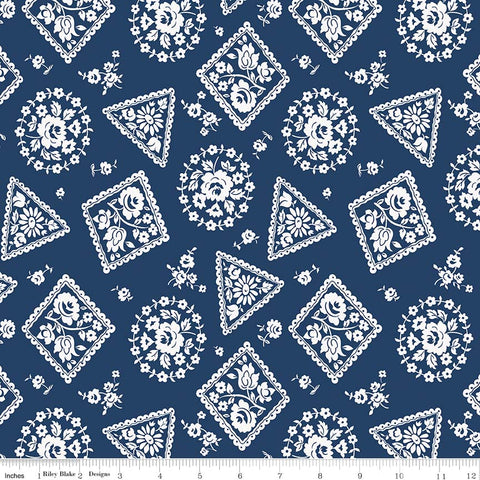 NEW! Majestic Navy Stamp Print (C8143 Navy)