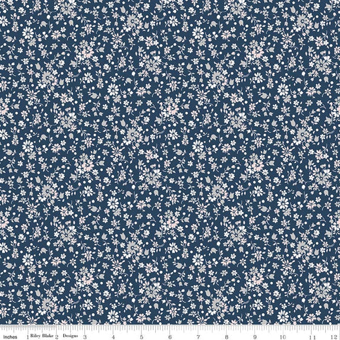COMING SOON! Majestic Navy Flower Print (C8144 Navy)