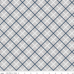 SALE - 5 YARD CUT!  Majestic Gray Plaid Print (C8146 Gray)