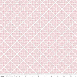 SALE - 5 YARD CUT!  Majestic Pink Plaid Print (C8146 Pink)