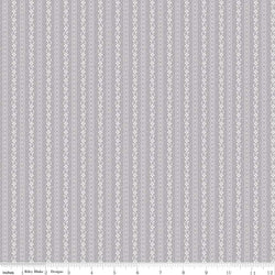 SALE - 5 YARD CUT!  Majestic Gray Stripe Print (C8147 Gray)