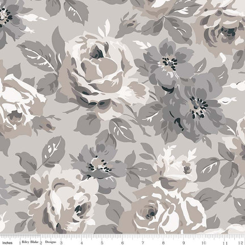 SALE - 7-1/2 YARD CUT!  Taupe Serenity Main Print (C8810 Taupe)