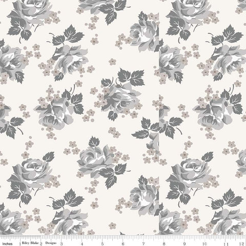 COMING SOON! Cream Serenity Roses Print (C8811 Cream)