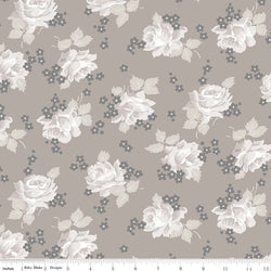 NEW! Taupe Serenity Roses Print (C8811 Taupe)